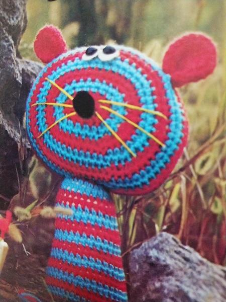 ONDORI『かぎ針編み』 くまのストライプ編みぐるみ