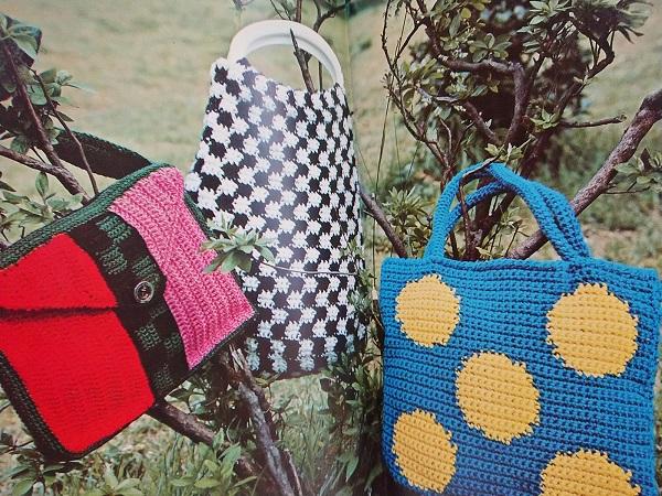 ハンドクラフトシリーズ てあみ手芸 バッグの編み物