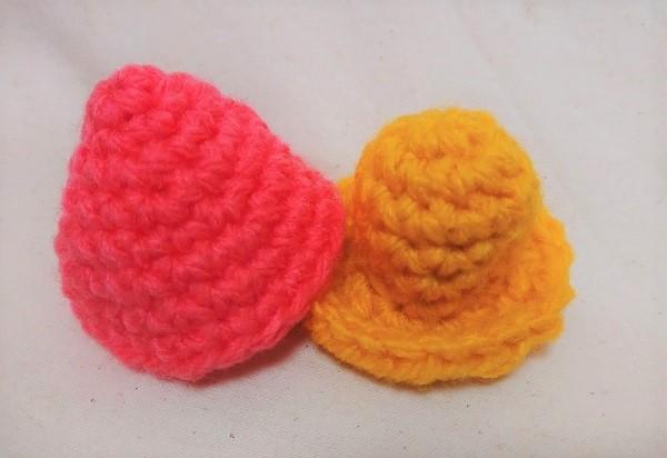 きのこの編みぐるみ 笠と柄