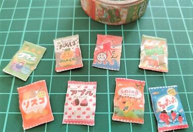 セリアのお菓子マスキングテープ
